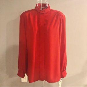 Vintage Pendleton Red Blouse NWT